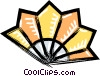 oriental fan Vector Clipart illustration