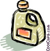 Vector Clip Art image  of an automotive oils