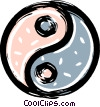 ying yang Vector Clip Art graphic