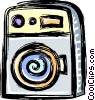 Vector Clip Art picture  of a transistor radios