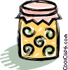 Vector Clipart image  of a jar of preserves