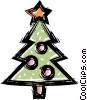 Christmas tree Vector Clip Art image