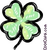 Vector Clipart picture  of a 4 leaf clover