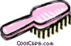 Vector Clip Art graphic  of a hair brush