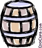 Vector Clipart graphic  of a wooden barrel