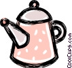 Vector Clip Art graphic  of a coffee pot