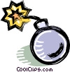 Vector Clip Art image  of a bomb with fuse