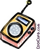 pocket transistor radio Vector Clipart illustration