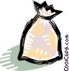 Vector Clip Art graphic  of a bags of flour