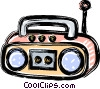 portable stereo system Vector Clipart illustration