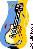 acoustic six string guitar Vector Clip Art picture