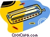 Vector Clip Art graphic  of a harmonica
