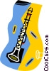 Vector Clipart graphic  of a clarinet