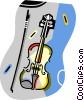 violins Vector Clipart graphic