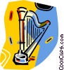 Vector Clipart illustration  of a harp