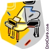 grand pianos Vector Clip Art image