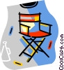 directors chair Vector Clipart image