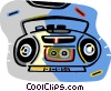 Vector Clip Art image  of a CD players