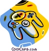 video game controller Vector Clip Art image