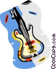 Vector Clip Art graphic  of a electric guitar
