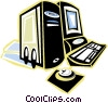 home/office computer system Vector Clip Art graphic