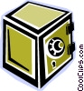 Vector Clipart image  of a safe