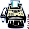 fax machines Vector Clipart graphic