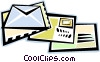 Vector Clipart graphic  of a letters and envelopes