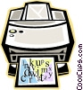 Vector Clipart graphic  of a laser printers