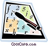 Vector Clipart image  of a pencil and math homework