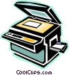 photocopy machine Vector Clipart picture
