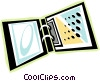 Vector Clip Art image  of a ringed binders