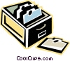 card catalogue Vector Clipart illustration