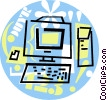 home/office computer Vector Clip Art picture