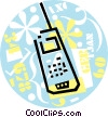 Vector Clip Art graphic  of a cellular phones
