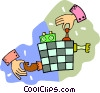 Vector Clip Art graphic  of a chess game