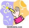 Vector Clip Art graphic  of a person drawing a picture with