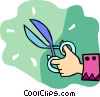 Vector Clipart illustration  of a hand with scissors