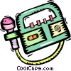 microphone with tape recorder Vector Clip Art image