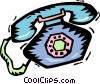Vector Clipart picture  of a ringing telephones
