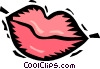 mouth lips Vector Clipart graphic