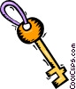 Vector Clipart illustration  of a skeleton key