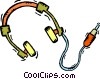 Vector Clip Art picture  of a head phones