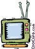 Vector Clip Art image  of a television sets