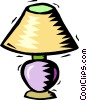Vector Clip Art image  of a table lamps