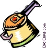 cooking pot with handle Vector Clipart image