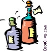 Vector Clip Art image  of a bottles of wine for sale