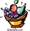 bowl of fruit Vector Clip Art graphic