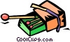 boxes of matches Vector Clipart illustration