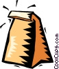 Vector Clip Art picture  of a brown lunch bag